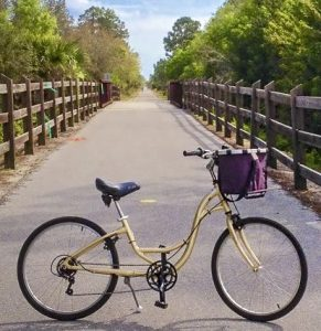The Legacy Trail is one of two bikes trails near Venice Florida