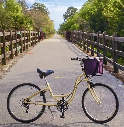 The Legacy Trail is one of the bike trails near Venice Florida